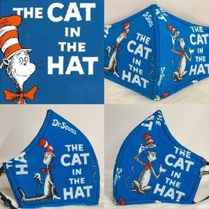 Classic Dr Seuss Cat in The Hat Adult face Mask
